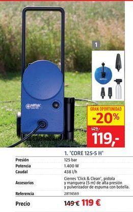 Oferta de Hidrolimpiadora por 119€