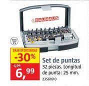 Oferta de Puntas de atornillador por 6,99€