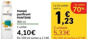 Oferta de Champú purificante PANTENE 360 ml por 4,1€