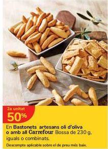 Oferta de En Picos artesanos Aceite de oliva o con Ajo Carrefour Bolsa de 230 g. iguales o combinados por
