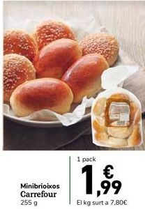 Oferta de Mini medias noches Carrefour por 1,99€