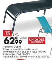 Oferta de Tumbonas DUBAI por 62,99€