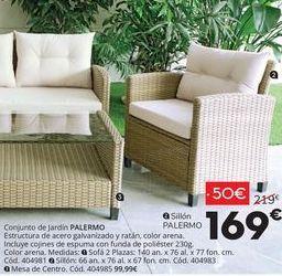 Oferta de Conjunto de jardín Palermo por 169€