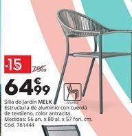 Oferta de Silla de jardín de aluminio MELK por 64,99€