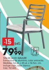 Oferta de Silla de jardín de aluminio GALILEE por 79,99€