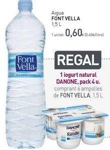 Oferta de Aigua FONT VELLA por 0,6€