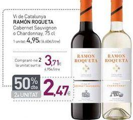 Oferta de Vi de Catalunya RAMÓN ROQUETA por 4,95€