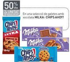 Oferta de En una selecció de galetes amb xocolata MILKA i CHIPS AHOY! por