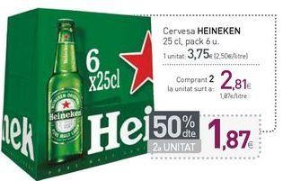 Oferta de Cervesa HEINEKEN por 3,75€