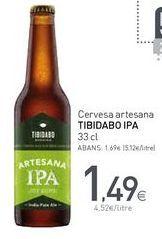 Oferta de Cervesa artesana TIBIDABO IPA por 1,49€