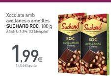 Oferta de Xocolata amb avellanes o ametlles SUCHARD ROC por 1,99€