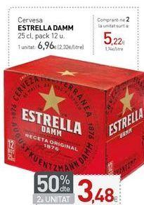 Oferta de Cervesa ESTRELLA DAMM por 6,96€
