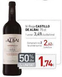 Oferta de Vi Rioja CASTILLO DE ALBAI por 3,49€