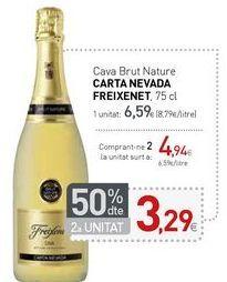 Oferta de Cava Brut Nature CARTA NEVADA FREIXENET por 6,59€