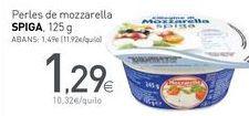 Oferta de Perles de mozzarella SPIGA por 1,29€