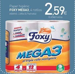Oferta de Paper higiénic FOXY MEGA3 por 2,59€