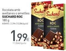 Oferta de Xoxolata amb avellanes o ametlles SUCHARD ROC por 1,99€