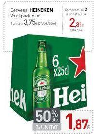 Oferta de Cervesa HIENEKEN por 3,75€
