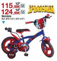 Oferta de Bicicleta infantil Spiderman por 115,99€
