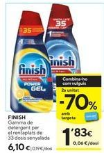 Oferta de Detergente lavavajillas Finish por 6,1€