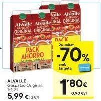 Oferta de Gazpacho Alvalle por 5,99€
