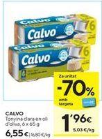 Oferta de Atún en aceite de oliva Calvo por 6,55€
