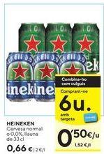 Oferta de Cerveza Heineken por 0,66€