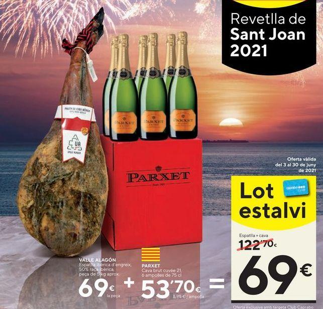 Oferta de Cava brut Parxet por 69€