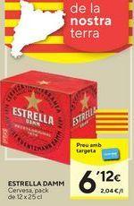 Oferta de Cerveza Estrella Damm por 6,12€