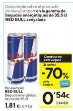 Oferta de Bebida energética Red Bull por 1,81€