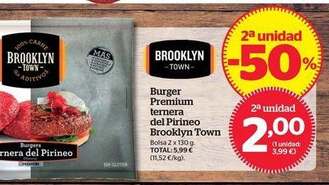 Oferta de Hamburguesas de ternera Brooklyn Town por 2€