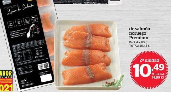 Oferta de Lomos de salmón por 10,49€