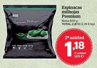 Oferta de Espinacas por 1,18€