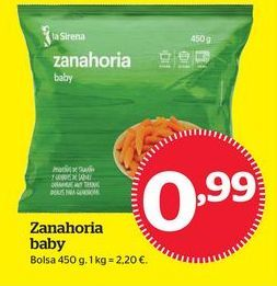 Oferta de Zanahoria congelada por 0,99€