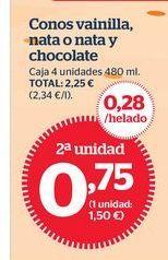 Oferta de Conos de vainilla por 1€
