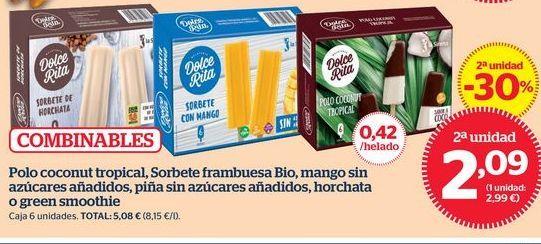 Oferta de Sorbete de horchata  por 2,21€
