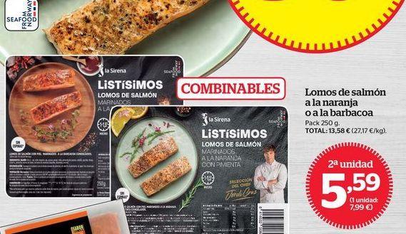 Oferta de Lomos de salmón por 5,59€