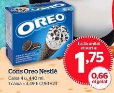 Oferta de Conos de chocolate Oreo por 1,75€