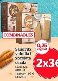 Oferta de Helado sandwich por 3€
