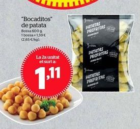 Oferta de Bocaditos de patata por 1,11€