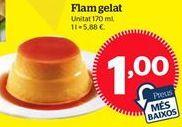 Oferta de Flan por 1€