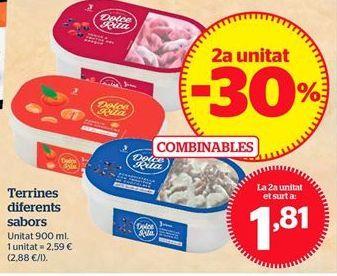 Oferta de Tarrinas diferentes sabores por 1,81€