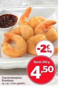 Oferta de Cola en tempura Premium por 4,5€
