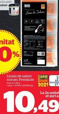 Oferta de Salmón por 10,49€
