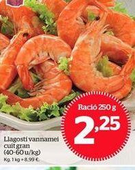 Oferta de Langostinos por 2,25€