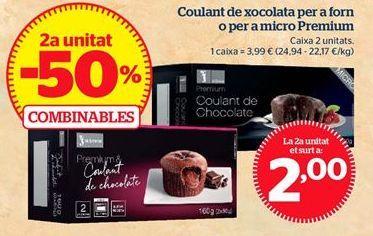 Oferta de Coulant de chocolate para horno o para micro Premium por 2€