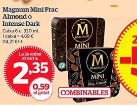 Oferta de Magnum Mini Frac Almond o Intense Dark por 2,35€