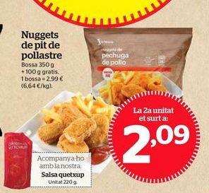 Oferta de Nuggets de pollo por 2,09€