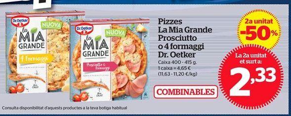 Oferta de Pizza Dr Oetker por 2,33€