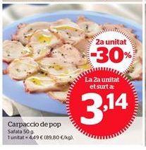 Oferta de Carpaccio por 3,14€